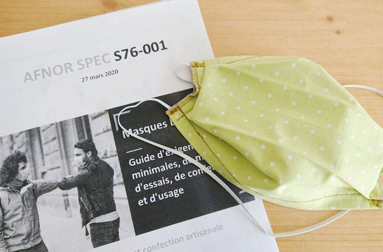 Fabriquer un masque barrière  AFNOR SPEC S76-001